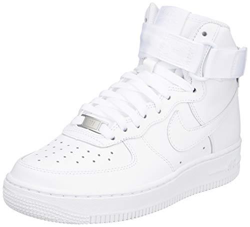 Nike Wmns Air Force 1 High, Scarpe da Fitness Donna, Bianco White 105), 39 EU