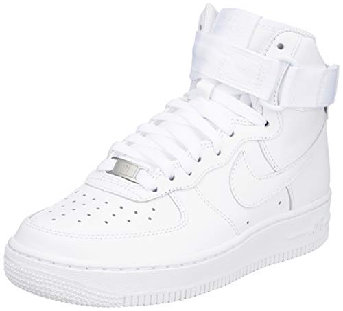 Nike Wmns Air Force 1 High, Zapatos de Baloncesto para Mujer, Blanco (White/White/White 105), 36.5 EU