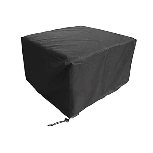 Cubierta cuadrada para mesa de patio, cubierta impermeable para muebles al aire libre, tela Oxford recubierta de plata, resistente al desgarro, cierre con hebilla de resorte inferior,120 * 120 * 74 cm