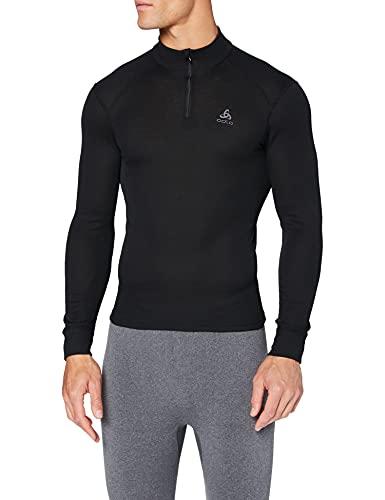 Odlo Originals Warm T-Shirt chaud col zipp manches longues homme Noir Taille Fabricant : XXXL