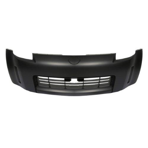CarPartsDepot, Front Bumper Cover Replacement Primed Black New Unpainted Part, 352-361639-10 NI1000201 62022-CD025?