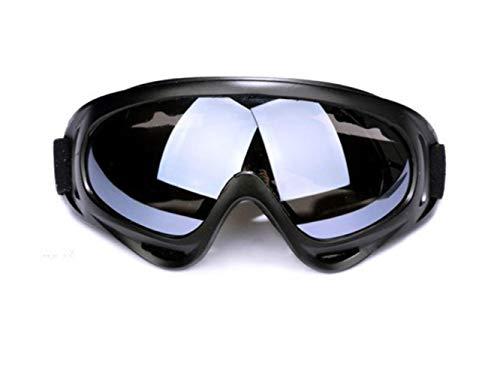 Hummla Gafas de esquí de Invierno Deportes al Aire Libre Gafas a Prueba de Viento 400 Protección UV Tabla de Snowboard Skate Gafas de esquí Gafas de Sol para Moto de Nieve, Fresno Negro