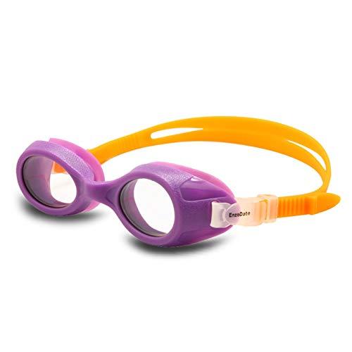 Viner Kids zwembril Kind jaren Helder zicht Junior zwembril Anti-condens UV-bescherming Geen lekkage Jongens Meisjes, Paars (5-12Y), (3-6Y)