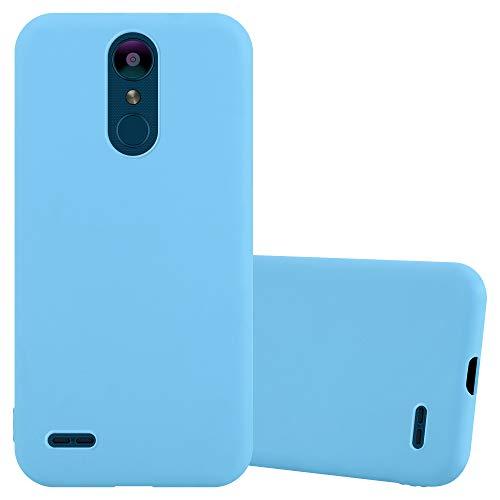 Cadorabo Funda para LG K8 2018 / K9 2018 en Candy Azul - Cubierta Proteccíon de Silicona TPU Delgada e Flexible con Antichoque - Gel Case Cover Carcasa Ligera