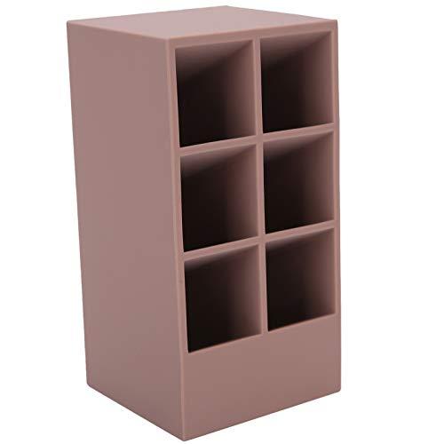 Boîte d'organisateur cosmétique, support de support d'affichage de cas de support de rouge à lèvres lourd et stable, filles pour(Pink purple-6 grid lipstick box)