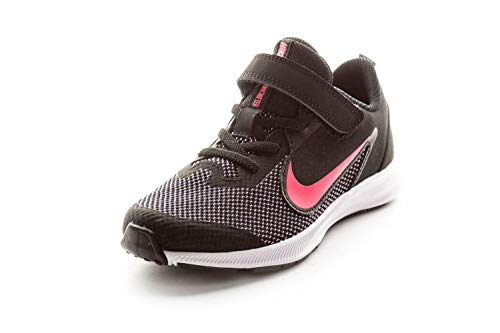 Nike Downshifter 9 (PSV), Zapatillas de Running Unisex Niños, Negro (Black/Hyper Pink/White 003), 33.5 EU