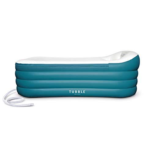 Tubble® Royale Air Bath - Aufblasbare Badewanne für Erwachsenen - Jacuzzi, Mobile Badewanne - Größe 255 Liter (156 cm) - Blue Lagoon