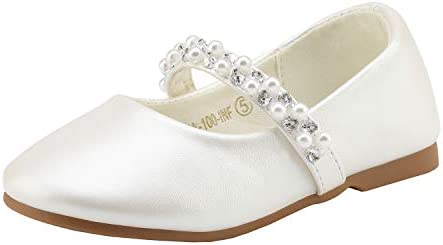 DREAM PAIRS SERENA 100 INF Mary Jane Casual Slip On Ballerina Flat Toddler New Ivory Size 6 product image