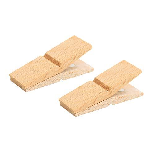 CLIP CLAP (クリップ クラップ) 木製 ウッドクリップ マグネット カードスタンド メモクリップ スタンド ピンチ PINCH 壁掛け 写真 (Beech wood(ビーチ), 2P)