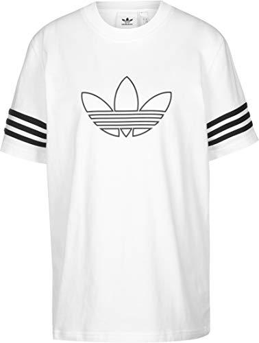Adidas OUTLINE TEE T-shirt, Uomo, bianco, M
