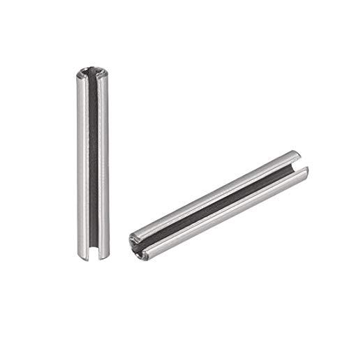 9//16 Length 1//4 Nominal Diameter 420 Stainless Steel Spring Pin Pack of 100 Plain Finish