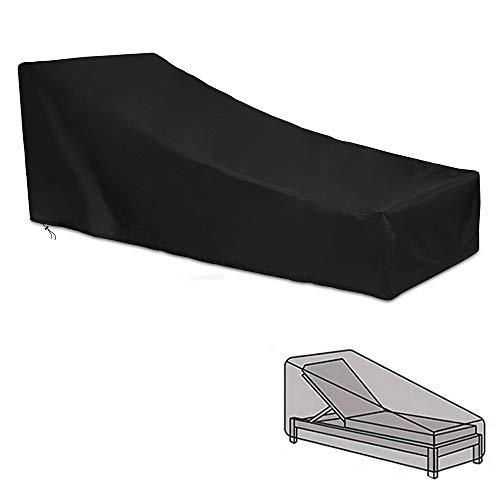 Amasawa Housse de Chaise Couverture Housse de Protection Longue Respirante Imperméable 420D Tissu Oxford pour Chaise Longue