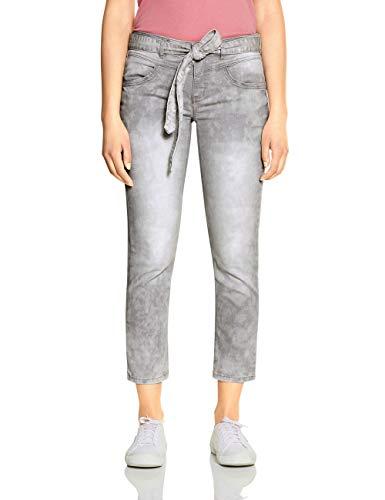 STREET ONE Damen Tilly Slim Fit Jeans, Light Grey Intense Acid wash, W33/L28
