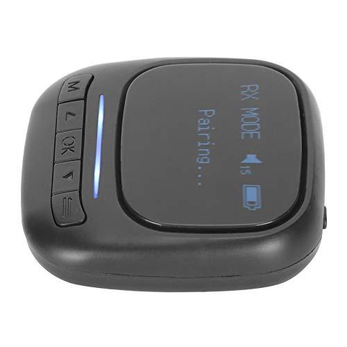 Mxzzand Transmisor de Audio Bluetooth Receptor Visible Inalámbrico para TV