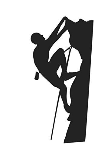 generisch Bergsteiger Aufkleber, in 15cm, 20cm oder 25cm Größe, Alpin Klettern Aufkleber Autoaufkleber (38/3) (Silbergrau Glanz, 15cm)