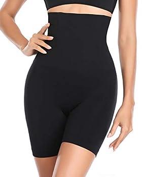 Women Body Shaper Tummy Control Shapewear High Waist Mid-Thigh Slimmer Shorts Underwear Butt Lifter Bodysuit Panties  Black M/L