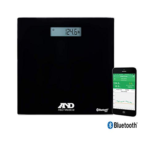 For Sale! A&D Medical Wireless Connected Weight Scale, Black (UC-352BLE)