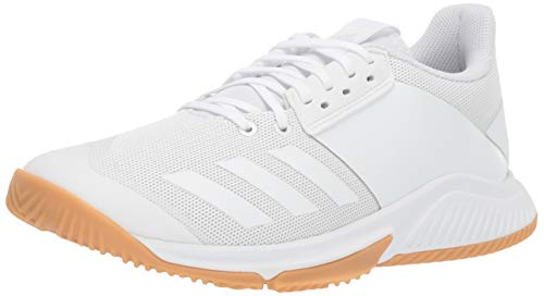 adidas Women's Crazyflight Team Volleyball Shoe, White/White/Gum, 6 M US