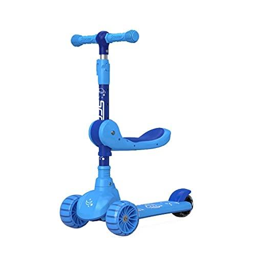QIXIAOCYB Los niños de 2 a 12 años pueden montar en un scooter con altura ajustable y scooter plegable C (color: B)