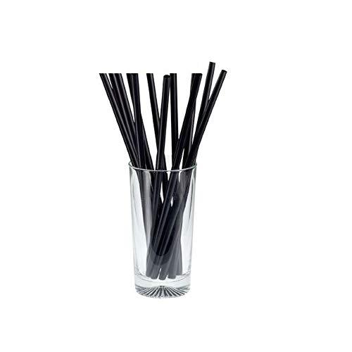 Set da 500 Pezzi CANNUCCE BIO Nere 14,5cm x 7mm Ideali per frappè e frullati Cooktail