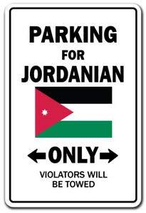 BDTS Nieuwe Parkeerplaats Voor Jordaanse Alleen Decal Jordanië Vlag Nationale Trots Liefde Metalen Teken 8x12 inch