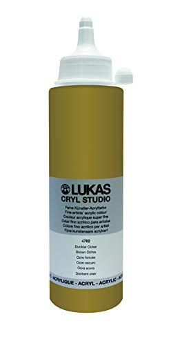 Lukas Cryl Studio 250 ml, Acrylfarbe in Premium-Qualität, Dunkler Ocker