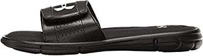Under Armour Men's Ignite V Slide Sandal, Black (001)/White, 7