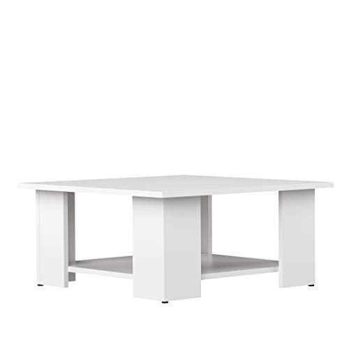 Marca Amazon - Movian Taro - Mesa de centro, 67 x 67 x 30.5 cm (largo x ancho x alto), blanco