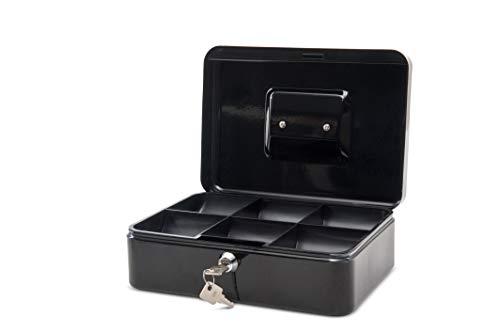 Maul Geldkassette 3, Schwarz, Herausnehmbarer Hartgeldeinsatz, 250 x 90 x 191 mm, 5611390, 1 Stück
