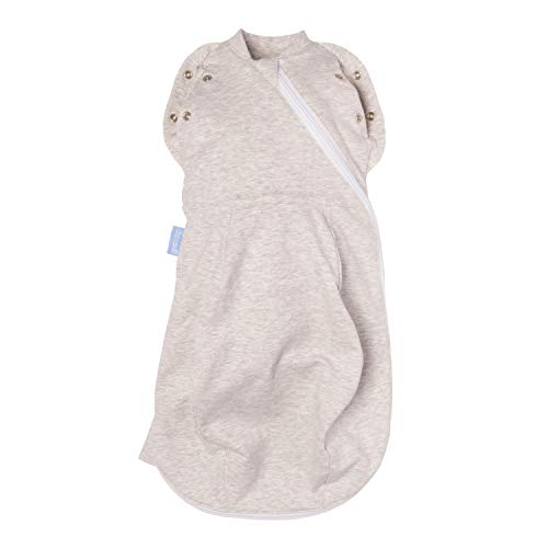 The Gro Company Grey Marl Grosnug 2-in-1 Swaddle and Newborn Grobag, 0-3 Months, Cosy