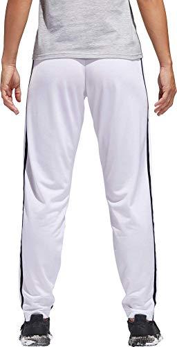 adidas Women's Essentials Tricot Tapered Track Pants (White, Medium)