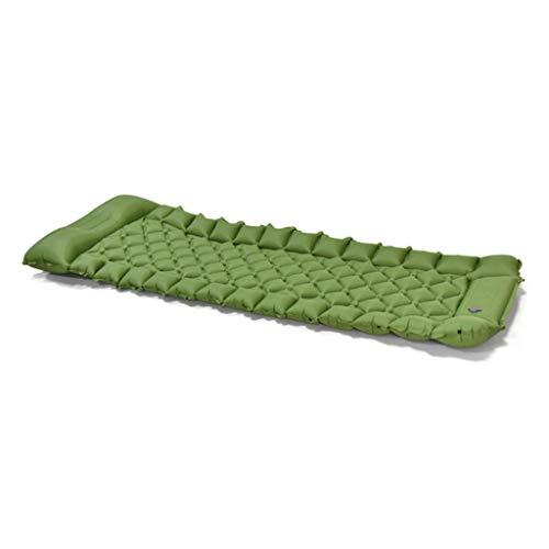 WZHZJ 7cm Espesa colchón de Cama de Aire Acampada al Aire Libre colchón Inflable Ultraligero para Tiendas de Humedad a Prueba de Humedad (Color : Green)