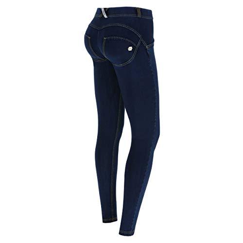 Freddy Damen WRUP1RC002 Leggings, Jeans Scuro-cuciture Gialle, L