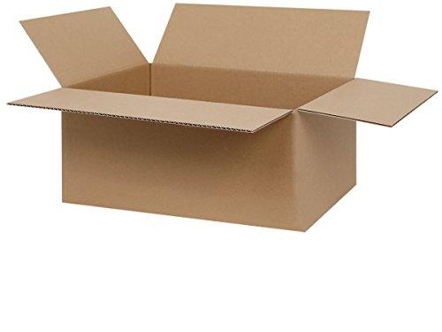 25 Faltkartons 350 x 240 x 150 mm | geeignet für Versand mit DPD, GLS & Hermes | 1-wellige Versandkartons
