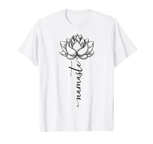 Namaste Lotus Blüten Yoga Yogi Meditation Geschenkidee T-Shirt