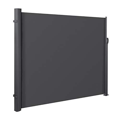 MVPOWER Seitenmarkise Alu 300 x 180 cm (L x H) - Ausziehbar Sonnenschutz Sichtschutz für Balkon, Terrasse, Garten, Seitenwandmarkise, Seitenrollo
