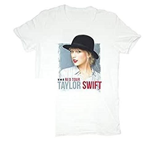 TAYLOR SWIFT T-SHIRT VINTAGE WHITE HAT TOUR TEE Youth, Small, Medium, X, Large (Youth Medium)