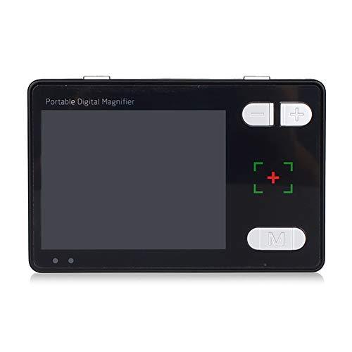 Saiko Handportable Video Digital Magnifier, 3,5 Zoll TFT LCD Elektronische Lesehilfe Leselupen,Tragbar 4X-24X Zoom Digital Lupe Elektronische Lesehilfe Sehhilfe 14 Farbmodi