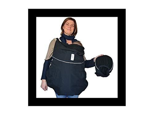 Manduca Deluxe - Cobertor reversible para portabebés, color negro