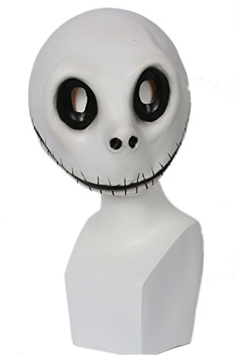 Halloween máscara Blanco látex Completo cabeza casco Anime Cosplay Disfraz...