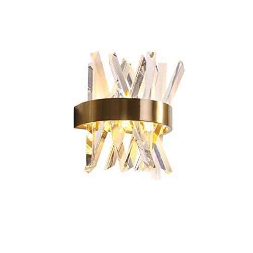 Wandlamp van kristalglas, moderne wandlampen en LED-verlichting, warm licht