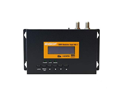 Edision HDMI Modulator Single HDMI auf DVB-T (Full HD, HDTV, USB, MPEG4) schwarz