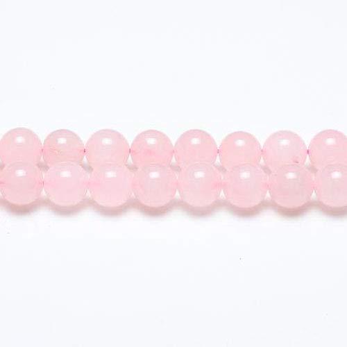 Filo 45+ Rosa Quarzo 8mm Tondo Liscio Perline - (GS1581-3) - Charming Beads