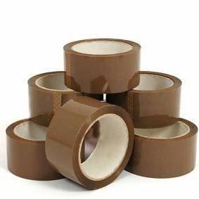Confezione da 6rotoli di nastro adesivo da pacchi di alta qualità, di 48 mm x 66m