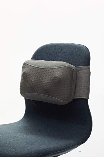 Naipo Massagekissen Schnurloses Shiatsu tragbares wiederaufladbares Massagegerät mit Wärmefunktion, oPillow™ tragbares Nackenmassagegerät für Nacken Schulter Rücken Muskel Entspannung, Haus Büro Auto