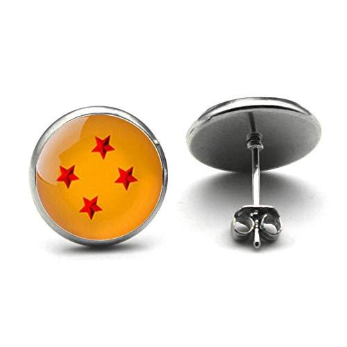 Dragon Ball Z - Pendientes de estrella con 4 orejas de Dragon Ball