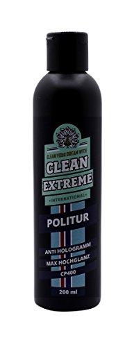CLEANEXTREME Anti-Hologramm Autopolitur CP400 200 ml - für hologrammfreie Auto Politur & maximaler Hochglanz. Entfernen von feinen Kratzern, Schleiern, Hologrammen auf dunklem Lack