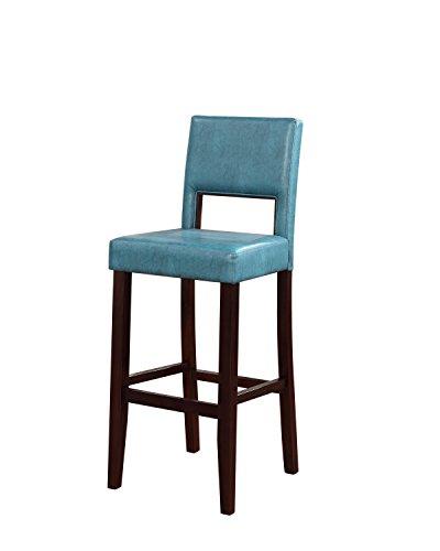 Linon Vega Barhocker, 48,3 x 50,8 x 11,4 cm, Blau