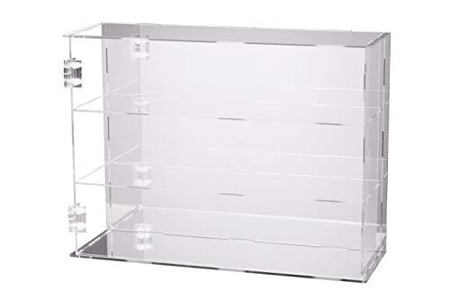 JINGBAN フィギュアケース コレクションケース ディスプレイケース アクリル製 透明 (台座ミラー+背面ミラー,扉付き3階式)