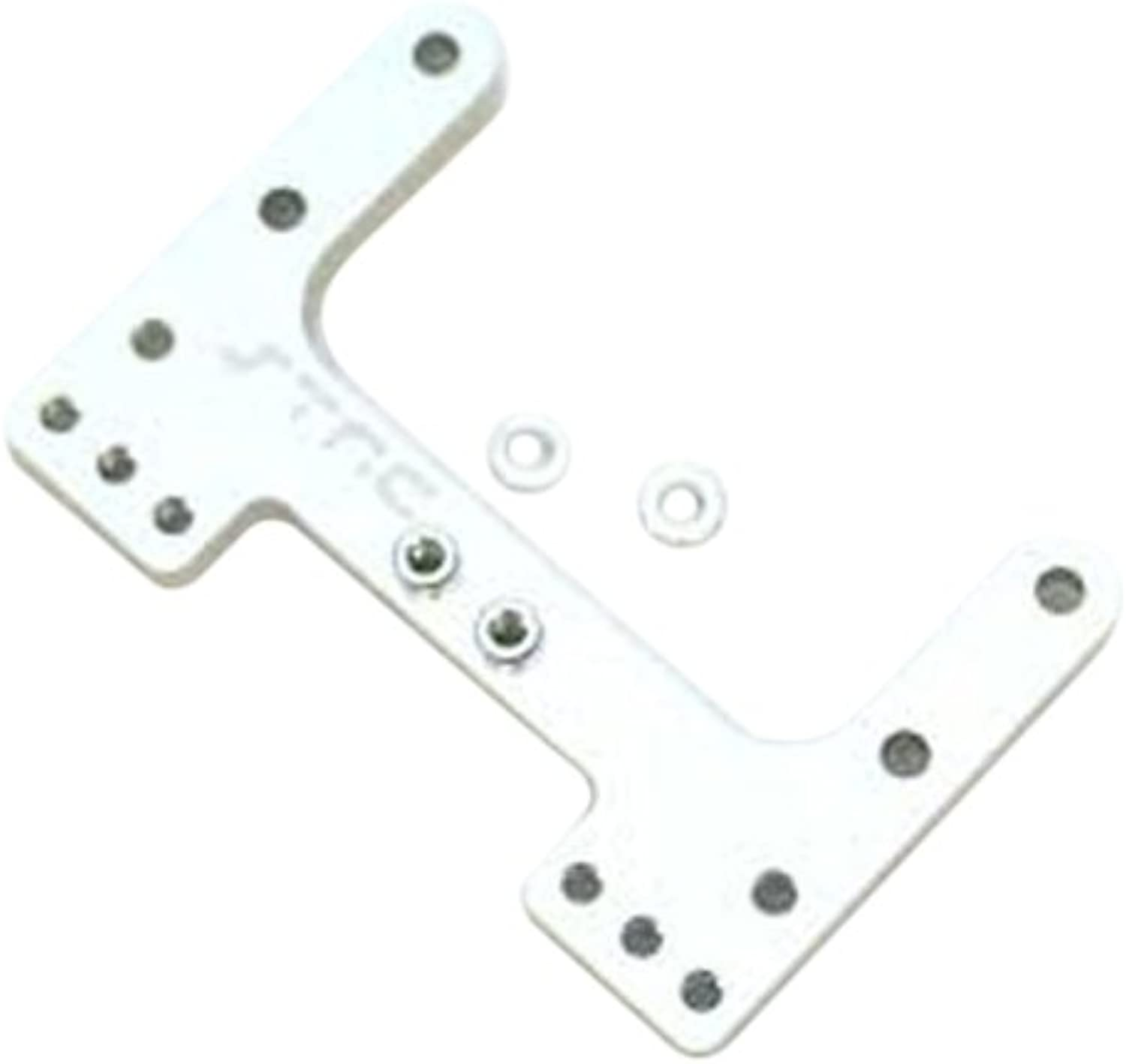 ST Racing Concepts STC9564S Aluminium Rear Camber Link Plate for The SC10, B4 and T4 (Silver)